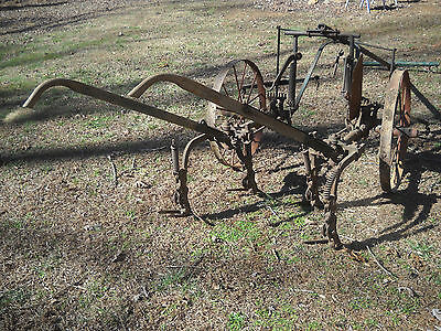 "Antique Oliver Horse Drawn Cultivator with 30"" Steel Wheels"