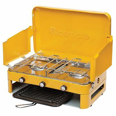 Gasmate 2 Burner portable outdoor  camping Stove with Griller 1103