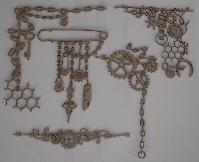 U Choose) Steampunk Chippies EX LARGE Barbed Wire Jewellery Junk Yard Chain Cog