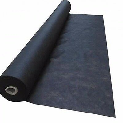 40gsm Black Weed Control Mat Medium Duty Spunbond Weedmat 1m x 25m or 50m