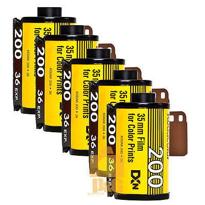 New Kodak Colorplus 200 35mm 36exp Film 5 Rolls  / Expiry Date