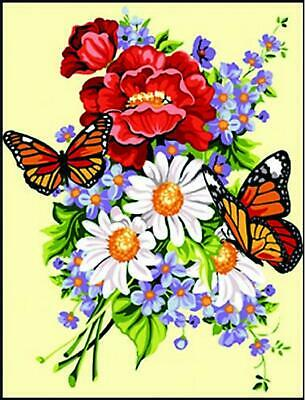 SEG de Paris Tapestry/Needlepoint Canvas – Butterfly Bouquet (Ephémère)