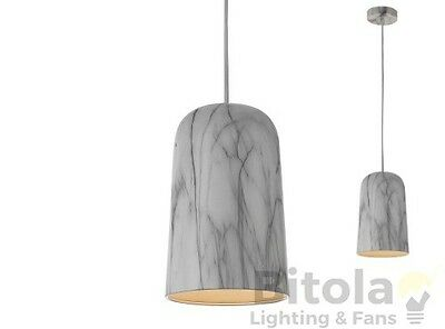Telbix Venato 16 Small Marble Look Metal Pendant Light Modern Hanging Single