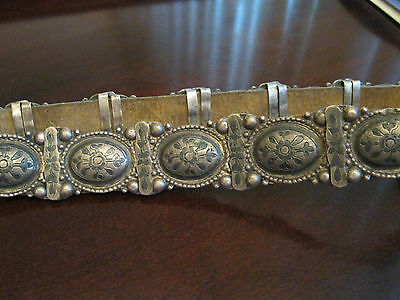 Antique Caucasian Russian  Silver Belt  1890-1900  In Very Good Condition