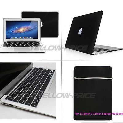 Sleeve Bag For Macbook Air 11'' 11.6'' Ruberized Hard Case Laptop Keyboard Cover