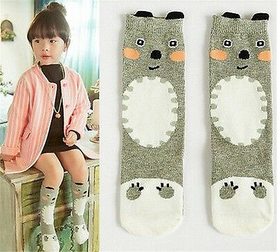 FD2959 Kids Girl Bear Knee Long Socks Tights Leg Unisex Stockings 3-5 Years♫
