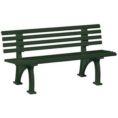 BANC PRO -ROBUSTE -PLASTIQUE VERT- NORDICO - 1500 x 740 x 530 mm- 3 Places.