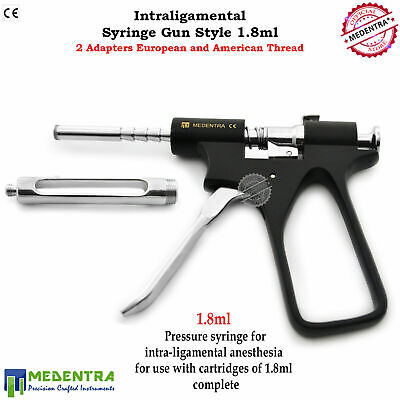 Aspirating Intraligamental Anesthesia Syringe 1.8ml Gun Style Jeringas anestesia