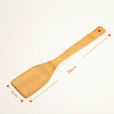 30cm Bamboo spoon Wooden Kitchen Cooking Utensils Spatula Spoon Tools