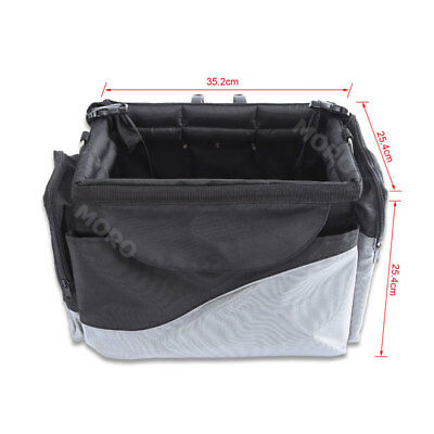 Folding Dog Travel Booster Bag Cat Puppy Pet Bike Seat Carrier With Safety Belt