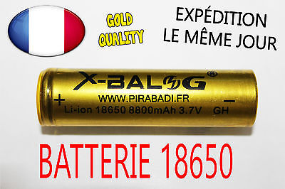 BATTERIE RECHARGEABLE ACCU 18650 3.7V LI-ION 8800 mAh LED