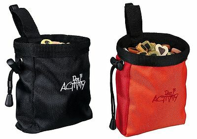 Trixie Dog Activity Treat Baggy Snack Bag With Belt Clip Red or Black - 2 Sizes