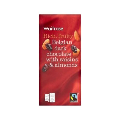 Belgian Plain Chocolate with Fruit & Nut Waitrose 200g