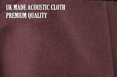 CHOCOLATE BROWN SPEAKER FABRIC / CLOTH / GRILLS / CABINETS - 850mm x 500mm