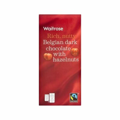 Belgian Plain Chocolate with Whole Nut Waitrose 200g