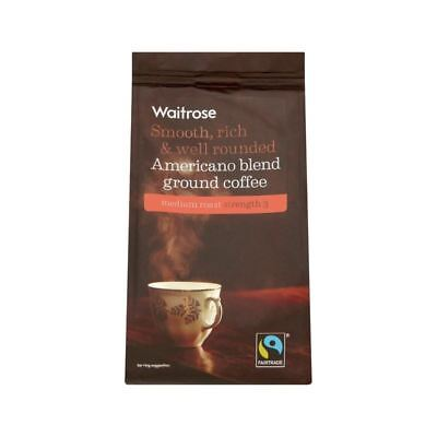 Fairtrade Cafe Blend Ground Coffee Waitrose 227g Pack Of 6