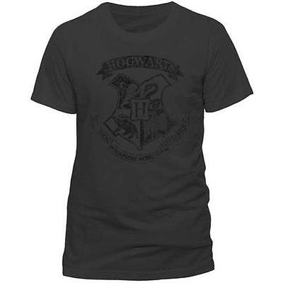 Harry Potter - Hogwarts Crest Mens Cotton T-Shirt - New & Official Warner Bros