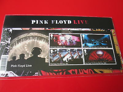 Pink Floyd Live And Albums Stamps Presentation Pack 10 Stamps