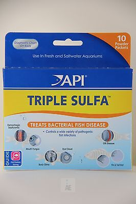 API PRO ® Triple Sulfa Treats Bacterial Fish Disease, Fresh& Saltwater Aquariums
