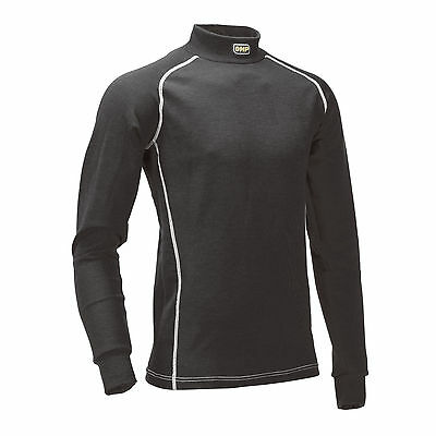 Omp Racing Fireproof Long Sleeve Crew Neck Top To Wear Under Race Suit