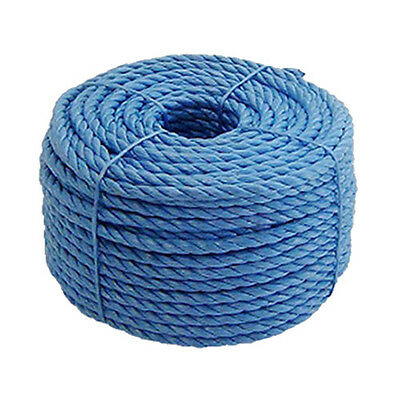 4MM x 220M BLUE POLYPROPYLENE POLY ROPE FOR SECURING TARPAULIN COVER