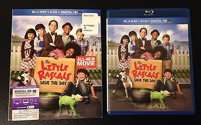 THE LITTLE RASCALS SAVE THE DAY Blu-Ray, DVD, iTunes Digital Copy & SlipCover.