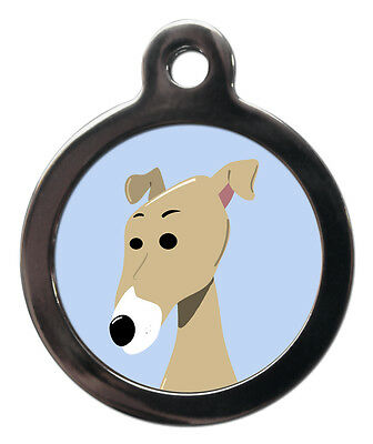 Greyhound Breed Cute Fun Pet Tags - Dog Cat ID Collar Tag - ENGRAVED FREE