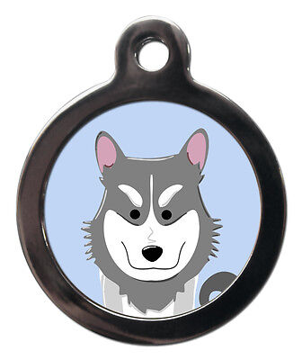 Husky Breed Cute Fun Pet Tags - Dog Cat ID Collar Tag - ENGRAVED FREE