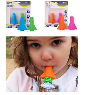 Cherub Baby Reusable Food Pouch SOFT SPOUT Fit ALL BRAND Non Spill Valve Feeding