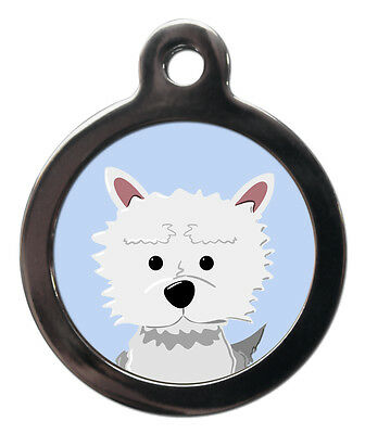 Westie Dog Breed Cute Fun Pet Tags - Dog Cat ID Collar Tag - ENGRAVED FREE