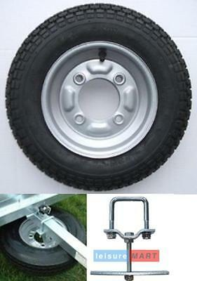 "Trailer spare wheel & tyre 3.50"" x 8"" Erde 102 complete with SPARE WHEEL CARRIER"