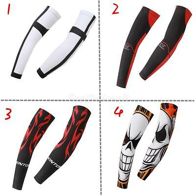 1Pair Mens Athletic Sport Skins Arm Sleeves Sun Protective UV Cover Golf Cycling