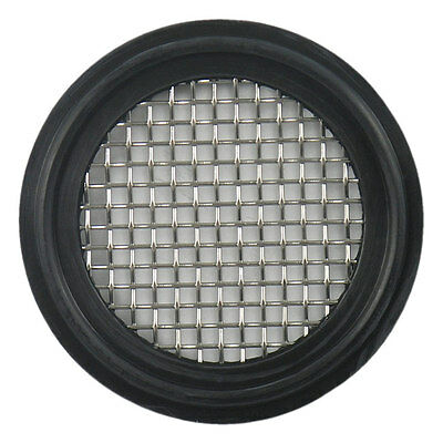 "Buna Sanitary Tri-Clamp Screen Gasket, Black - 1.5"" w/ 10 Mesh (316L Stainless)"