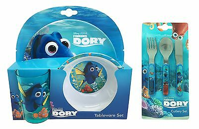 Disney Finding Dory | Nemo 6pc Tumbler, Bowl, Plate Set & Cutlery | Mealtime