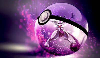Pokemon GO Mewtwo in Pokeball Custom Playmat/Mouse Pad #3 Free Shipping
