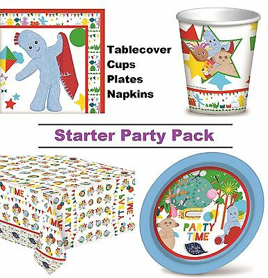 In The Night Garden 8-48 Guest Starter Party Pack Cup Plate Napkin Tablecover