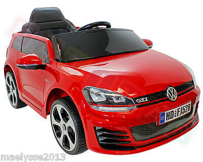 original exclu promo voiture lectrique enfants volkswagen golf 6 7 gti eur 299 00 picclick fr. Black Bedroom Furniture Sets. Home Design Ideas