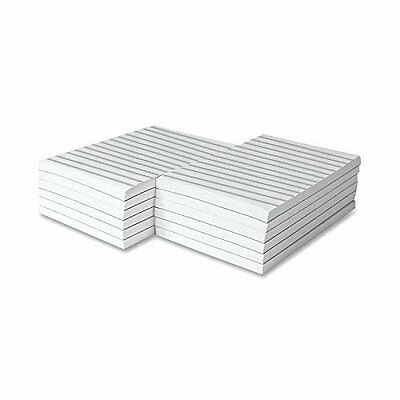Memo Pads, White, With Black Lines, 50 Sheets Per Pad, 10 Pads (8.5 x 5.5)