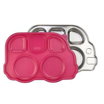 Innobaby Din Din Smart Stainless Divided Platter with Sectional Lid, Pink, New,