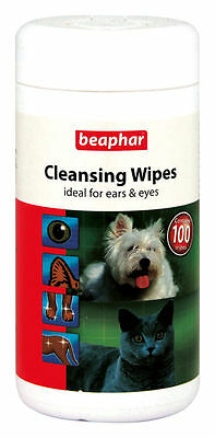 Sale Beaphar Dog Cleansing Cleaning Wipes (100 Pack)