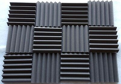 3 pack Acoustic Foam Tiles   2 x 12 x 12 (charcoal) * FREE SHIPPING