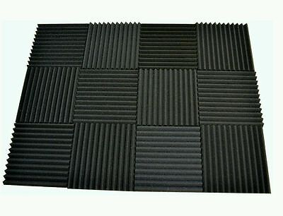 12 pack Acoustic Foam soundproof Tiles 1 x 12 x 12 (charcoal) *FREE SHIPPING