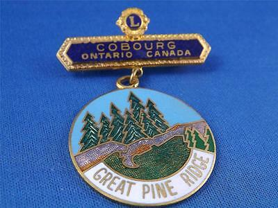 Lions Club Canada Cobourg Ontario Vintage Pin Great Pine Ridge