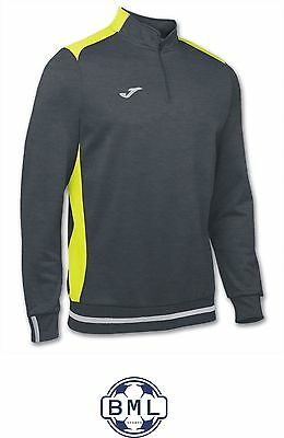 Joma Campus Ii 1/4 Zip Training Top - Small Adult - Grey/fluo