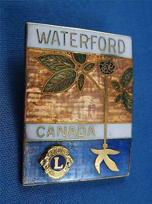 Lions Club Canada Waterford Vintage Hat Lapel Pin