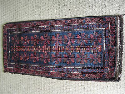 Pre 1890 - 1900 Antique Balouch Grain Bag With Kelim Original  Very Good Colors