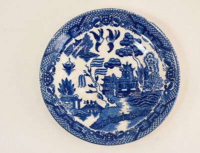 Blue Willow Saucer Marked MADE IN JAPAN 5 3/4 inch diameter