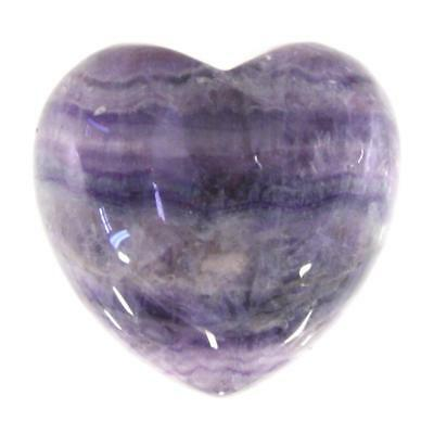 Rainbow Fluorite Crystal Heart Cut and Polished Mineral - 40mm