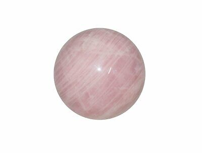 Rose Quartz Crystal Sphere Cut and Polished Mineral - 80mm Diameter