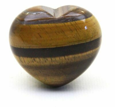 Tiger Eye Crystal Heart Cut and Polished Mineral - 20mm